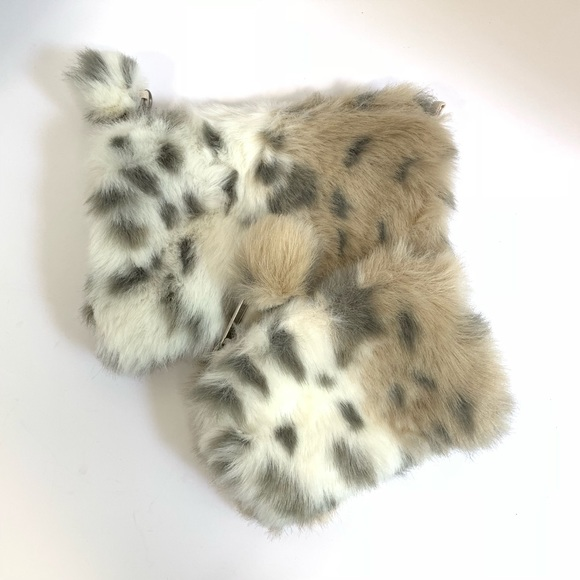 Pottery Barn Other - PB Teen Furry Pom Pom Bags Pencil Case Makeup
